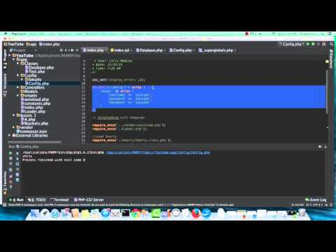 MVC PHP Tutorial 4 of 5 - Models, Configuration and DB