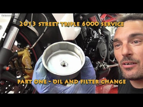 2013 Street triple R 6000 Service Part One- Oil and Filter Change