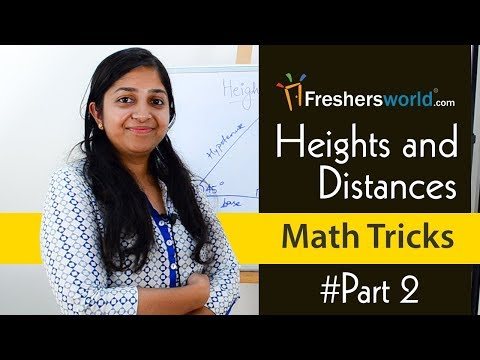 Aptitude Made Easy - Heights And Distances, Math Tricks Part - 1