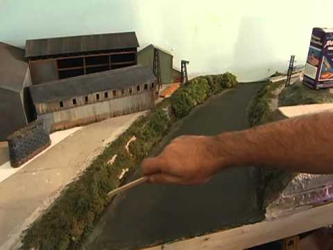 How To Make A River For Your Model Railroad Train Layout! Awesome!