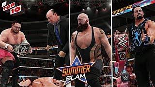 WWE Top 10 SummerSlam 2018 Predictions! WWE 2K18