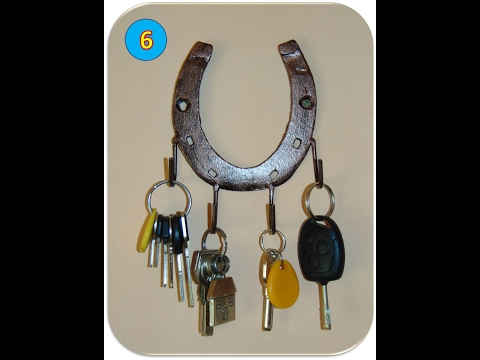 Making a key holder from an old horseshoe