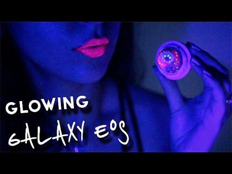DIY Glow-in-the-Dark Galaxy EOS Lip Balm | SofiaStyled *:・゚