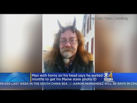 Maine Man Allowed To Wear Goat Horns In Driver's License Photo