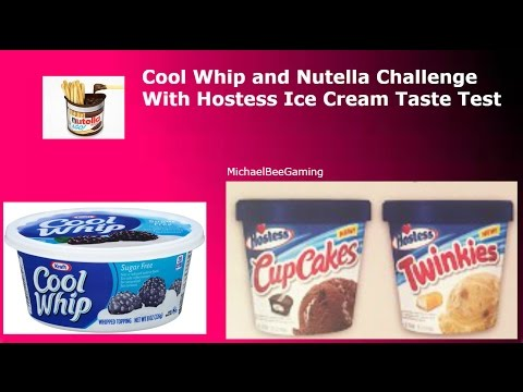 Cool Whip and Nutella Challenge