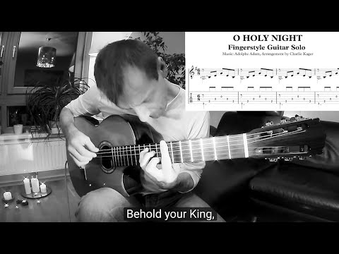 O Holy Night Tabs Classical Guitar Fingerstyle Tutorial 7