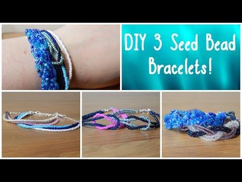 DIY 3 Seed Bead Bracelets! How To Beginners Jewellery Making ¦ The Corner of Craft