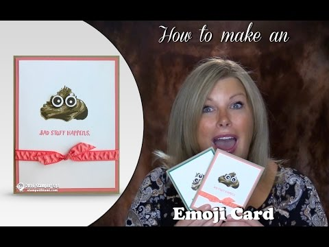 How to make a funny Poop Emoji card featuring Stampin Up