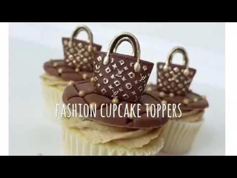 How to make Mini fashion purse fondant cupcake topper tutorial!!
