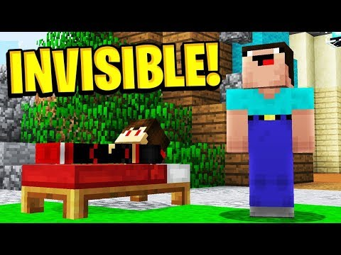 INVISIBLE BEDWARS TROLLING! (Minecraft BedWars)