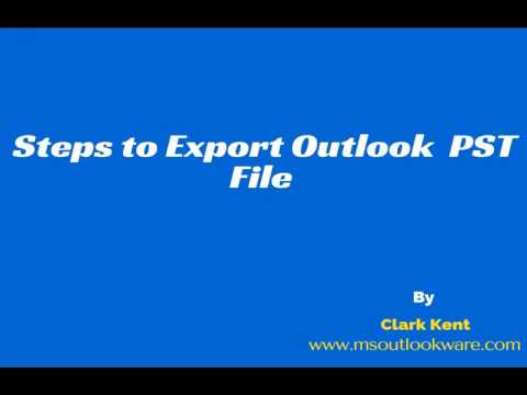 Learn the Way to Import and Export Outlook Data File (.pst)
