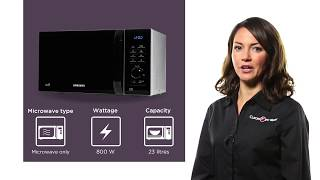 Samsung MS23H3125AW Solo Microwave - Black & White | Product Overview | Currys PC World