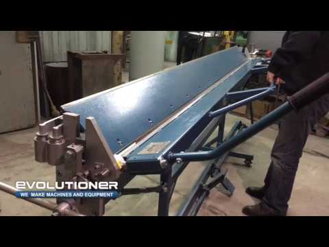 Manual bending machine MB-3150mm. Bending of the roofing element