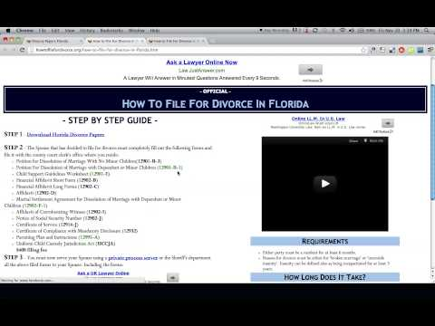 Free Florida Divorce Papers and Forms