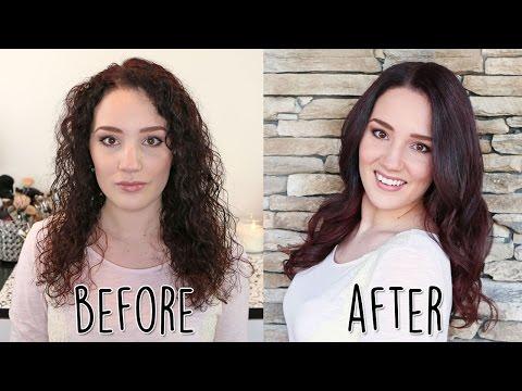 Transform Natural Curls to Soft Wavy Curls Hair Tutorial