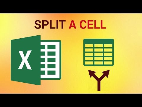 How to Split a Cell in Excel 2016