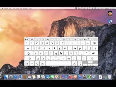 How to activate your on-screen Mac Keyboard in Yosemite (Virtual Keyboard)