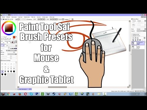 Paint Tool Sai Brush Preset for Mouse and Graphic Tablet Tutorial