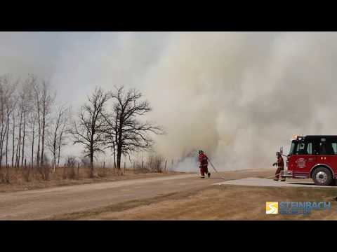 Grass Fire Near Kleefeld