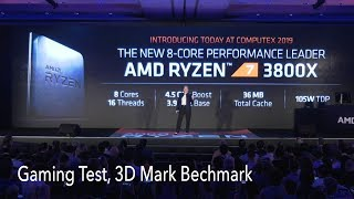 AMD Ryzen 3800x Introduced by Lisa Su at Computex 2019, Compared with Intel i9 9900k