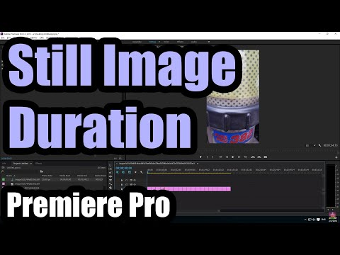 How to change Duration of Still Images in Adobe Premiere Pro CC 2015