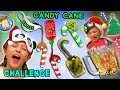 CANDY CANE CHALLENGE w/ Gross and Weird Flavors