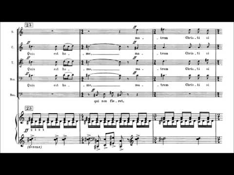 Download Francis Poulenc - Stabat mater [With score]