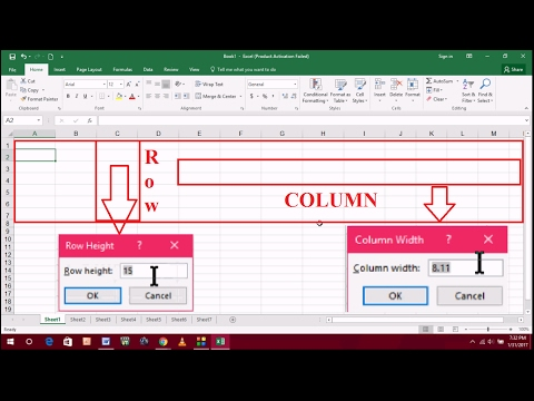 How to Rearrange Row Height & Column Width in MS Excel