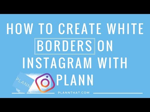 How to create a white border theme on instagram