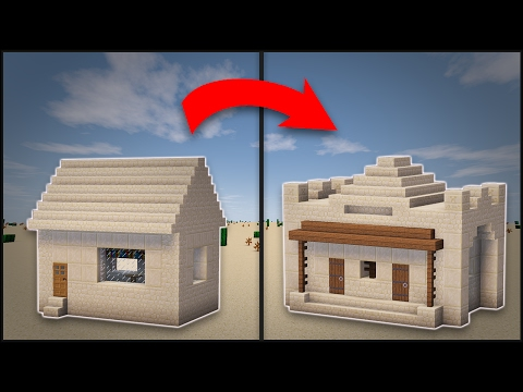 Minecraft: How To Remodel A Desert Village Library