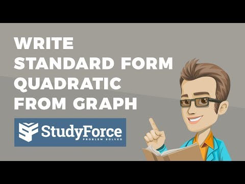 📚 How to write a quadratic equation in standard form when a graph is given