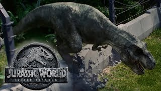 New T-REX in Jurassic World Fallen Kingdom | A Young One takes the place of Rexy
