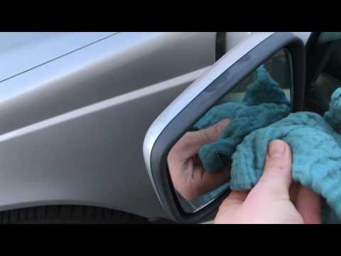 How to clean the windshield of a car side and rear windows glass wash with methylated spirit DIY