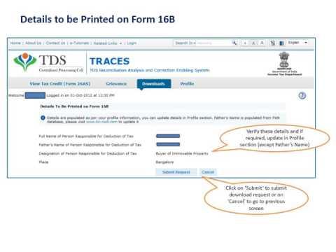 Download Form 16B (TDS on sale of Property)
