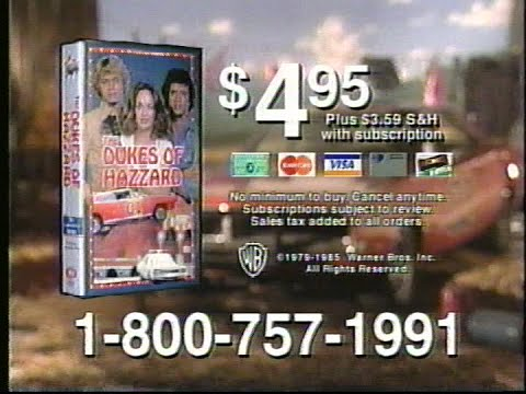 (1997) Columbia House VHS Dukes of Hazzard series tv offer
