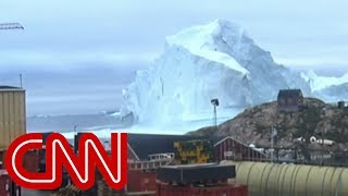 Massive iceberg threatens tiny village