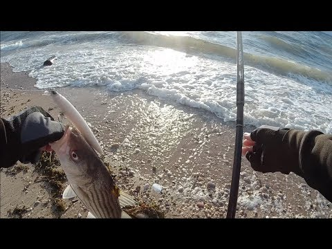 Full Day of Bassin Part 2 (Saltwater) - Striped Bass - Long Island NY