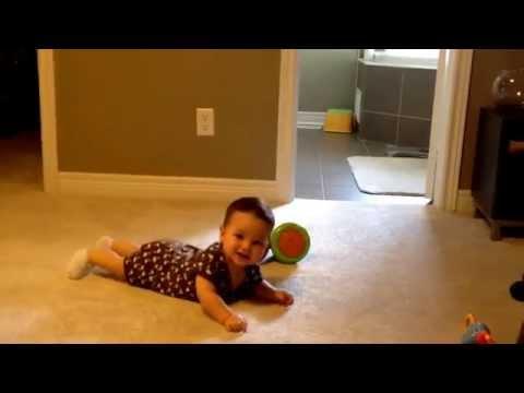 Baby crawling / dragging himself