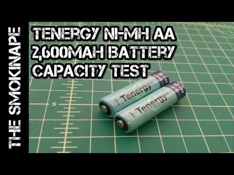 Tenergy Ni-MH AA 2,600mah Rechargeable Battery Capacity Test - TheSmokinApe