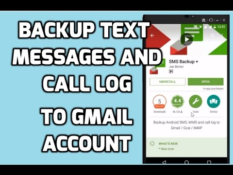How To Backup text Messages and Call Logs of Mobile To Gmail