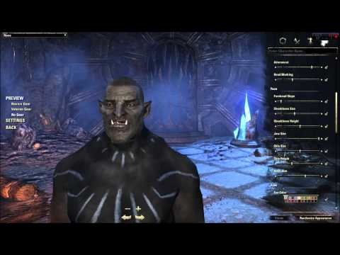 Elder Scrolls Online Character Creation - Orc (In Depth ESO Character Customization Review)