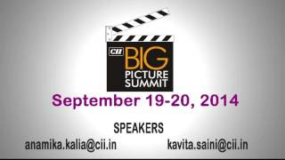 Cii Big Picture Summit 2014: Taking Indian M&e To $100 Billion