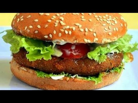 Veg   Vegan Burger with patty recipe   Full tutoral for firm patty and salsa included  Healthy