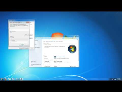 How to Change Computer Name in Windows 7 Tutorial