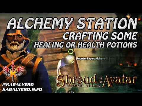 Shroud Of The Avatar Gameplay 2016 ★ Using An Alchemy Station & Crafting Some Health Potions