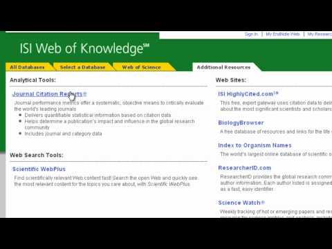 Web of Science-Journal Impact Factors