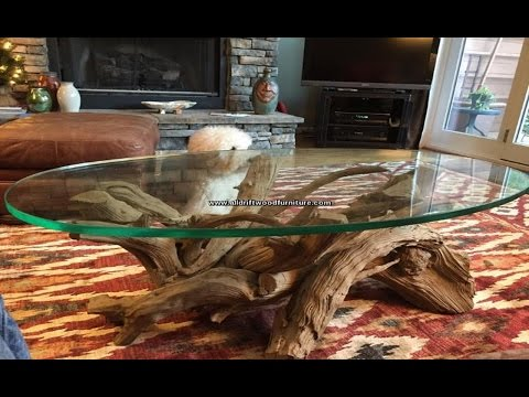 Driftwood coffee table, driftwood console table, www.alldriftwoodfurniture.com