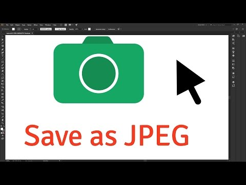 How to Save as JPEG in Adobe Illustrator CC