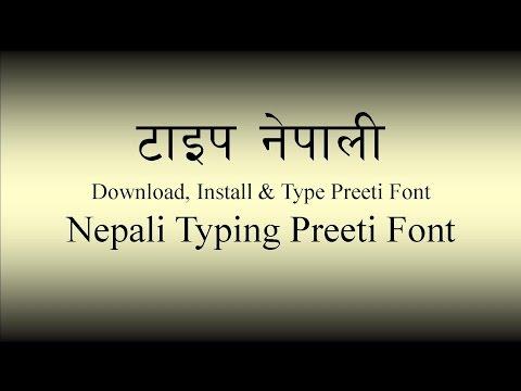 Download, Install & Type Preeti Font