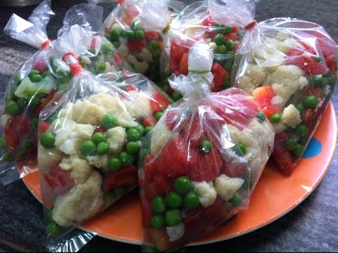 How To Blanch And Preserve (Freeze) Fresh Vegetables (Carrots, Cauliflower & Green Peas)
